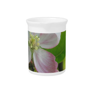 Pink apple blossoms beverage pitcher