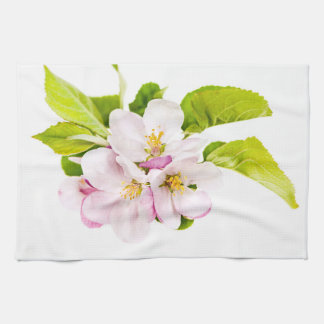 Pink apple blossoms hand towels