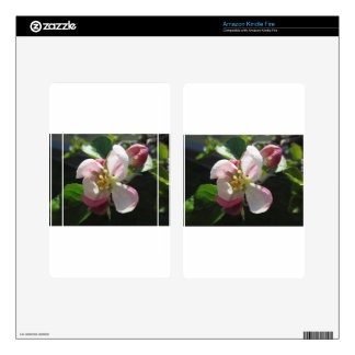 Pink apple blossoms kindle fire decals