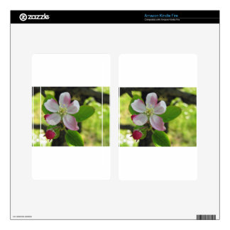 Pink apple blossoms kindle fire skin