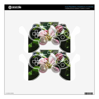 Pink apple blossoms skin for PS3 controller