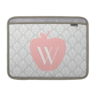 Pink Apple Damask Teacher Macbook Air Sleeve
