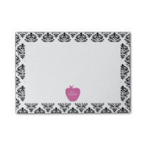 Pink Apple Damask Teacher Post-it Notes