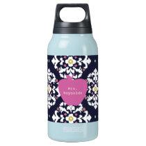 Pink Apple & Ikat Teacher Insulated Water Bottle