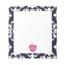 Pink Apple Ikat Teacher Notepad