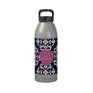 Pink Apple & Ikat Teacher Reusable Water Bottle