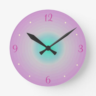 pink aqua childrens wall clock - Girly Pictures To Colour In