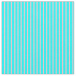 [ Thumbnail: Pink & Aqua Colored Lines Pattern Fabric ]