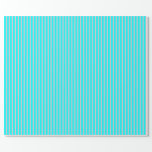 [ Thumbnail: Pink & Aqua Colored Lines Pattern Wrapping Paper ]