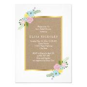 Pink, aqua flowers crafty wedding bridal shower 5