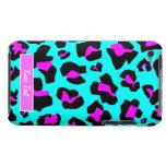 Pink/Aqua Leopard Print iPod Touch Case