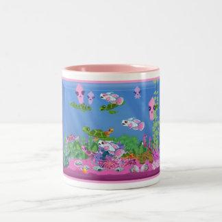 Pink Aquarium Two tone Mugs