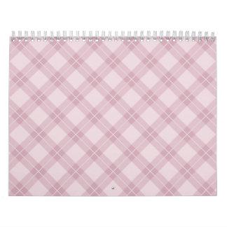 Pink Argyle Calendar