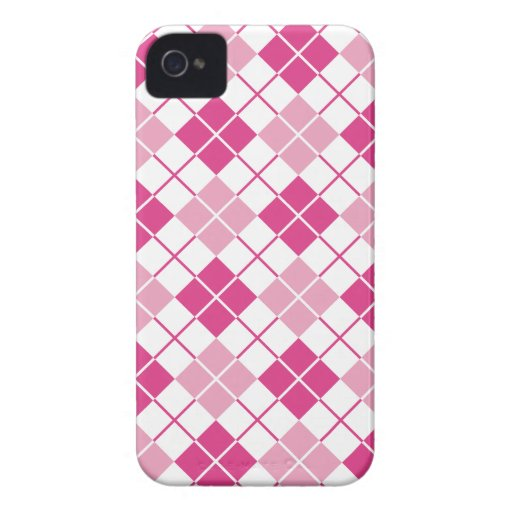 Pink Argyle iPhone 4 Case-Mate Case