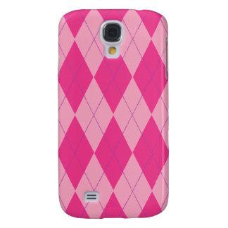 Pink Argyle Samsung Galaxy S4 Cover