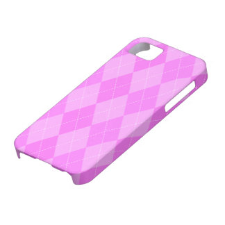 Pink Argyle Case-Mate iPhone 5 Barely There Case
