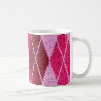 Pink Argyle Coziness Coffee Mug