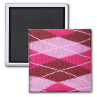 Pink Argyle Coziness Magnet