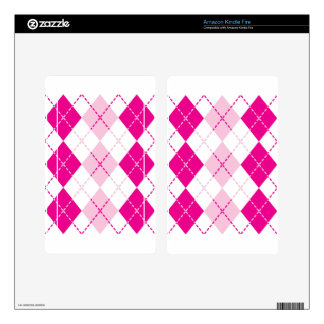 Pink Argyle Decals For Kindle Fire