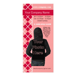 Pink Argyle Fashion Diva Rack Card