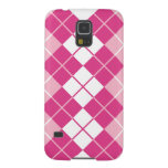 Pink Argyle Galaxy S5 Cases