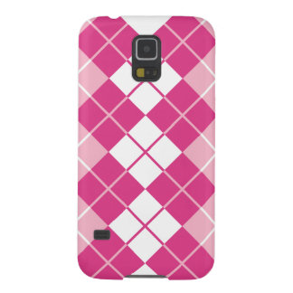 Pink Argyle Galaxy S5 Cover