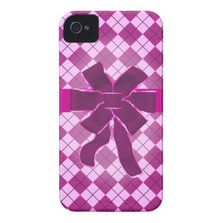 Pink Argyle Gift Case