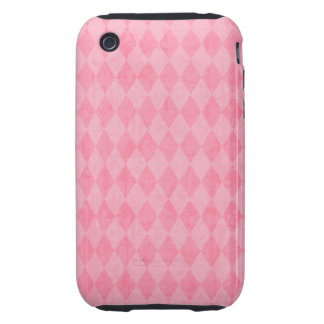 Pink Argyle Harlequin Preppy Diamond Print Tough iPhone 3 Cover