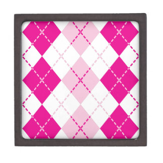 Pink Argyle Keepsake Box