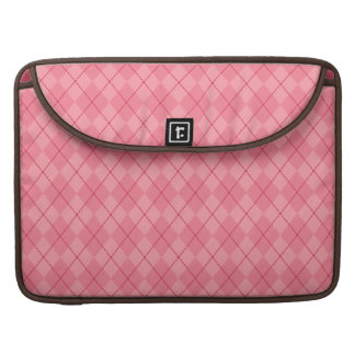 Pink Argyle MacBook Sleeve