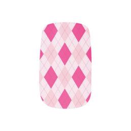Pink Argyle Minx Nails Minx Nail Wraps
