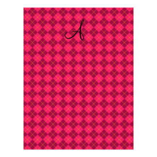 Pink argyle monogram gifts personalized flyer