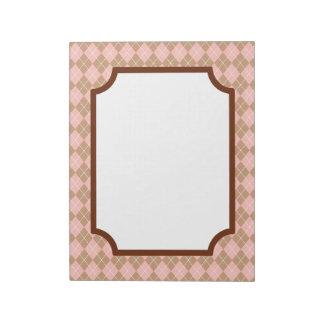 Pink Argyle Notepad