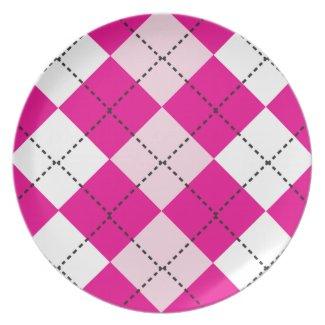 Pink Argyle Plate