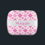 """Pink Argyle Paw Print Pattern Candy Tin<br><div class=""""desc"""">Show off your love of animals with this awesome paw print themed candy tin. This item displays a pink argyle paw print pattern. Maybe you&#39;re searching for a special gift for an animal lover in your life? This product is a great gift for cat owners, dog owners, veterinarians, vet techs,...</div>"""