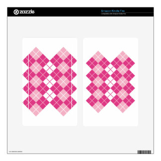 Pink Argyle Skin For Kindle Fire