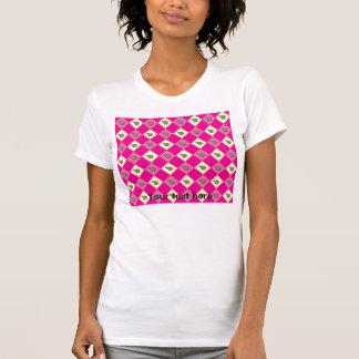 Pink argyle turtle pattern tee shirt