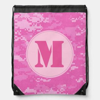 Pink ARMY ACU Camo Camoufl Draw String Bag Sack