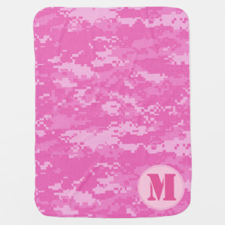 Pink ARMY ACU Camo Camouflage Baby Blanket