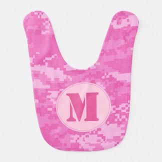 Pink ARMY ACU Camo Camouflage Pattern Baby Bib