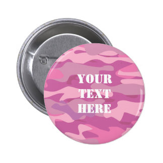 Pink army camouflage color name badge buttons