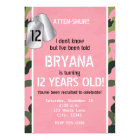 PINK Army Dog Tags Camouflage Party Invitations