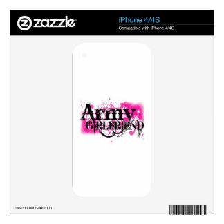 Pink Army Girlfriend Skins For The iPhone 4S