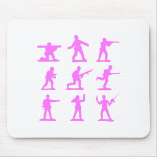 Pink Army Men Mouse Pad