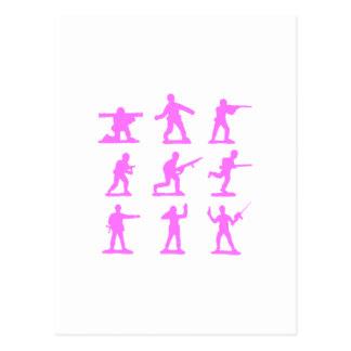 Pink Army Men Postcard