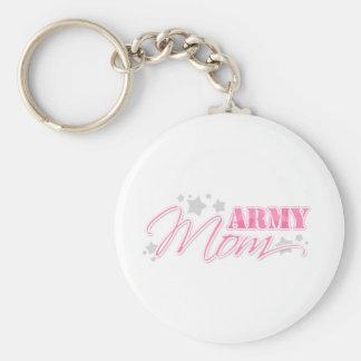 Pink Army Mom Keychain