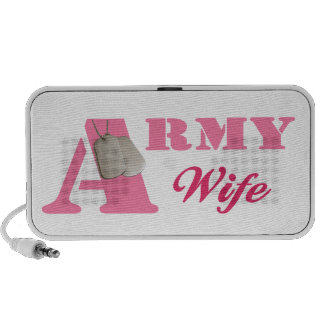 Pink Army Wife Doodle Speaker