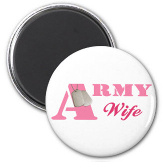 Pink Army Wife Magnet