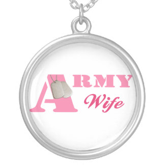 Pink Army Wife Necklace