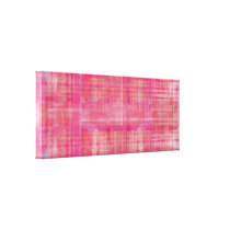 Pink Art Color Painting Wrapped Canvas Print